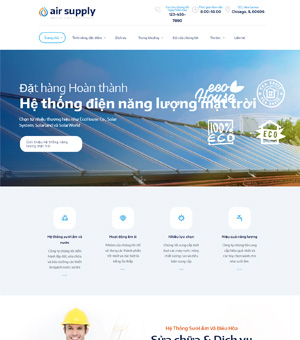 Mẫu Thiết Kế Website Điện Lạnh 01