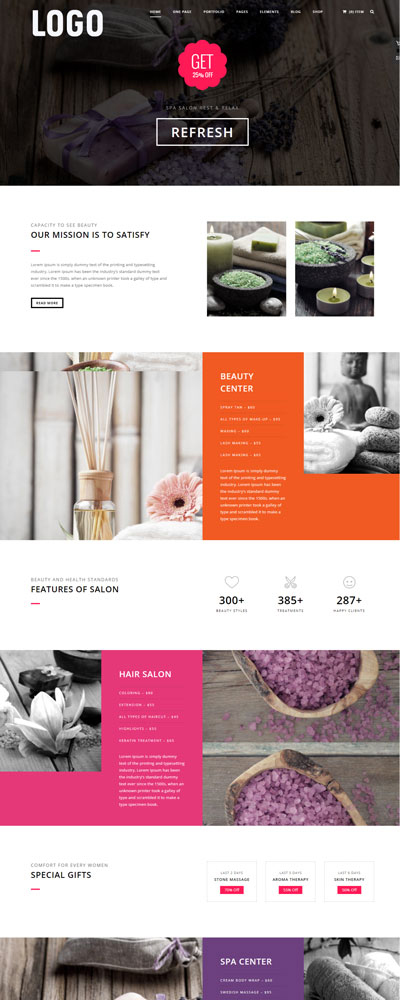 mẫu website spa 02