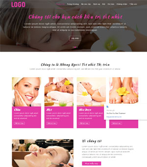 mẫu website spa 8